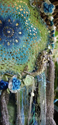 Boho Gypsy Lace Doily Dreamcatcher Wall Art by RavenshiresRealm