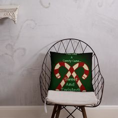 Candy Cane Christmas Pillow Afternoon Nap, Pillow Fight, Christmas Pillow, Candy Cane, Hanging Chair, Joy, Shapes, Pillows, Home Decor