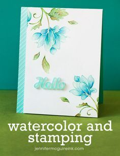 Brilliant tips for using Gansai Tambi Watercolor (or any watercolour paints) Stamping Video tutorial by Jennifer McGuire - stamp set is Altenew brand Persian Motifs Altenew Cards, Stampin Up Cards, Jennifer Mcguire Ink, Card Making Techniques, Watercolor Cards, Watercolour Invites, Card Making Inspiration, Design Inspiration, Card Tutorials