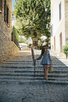 Corte, Corsica - The Londoner Spain Honeymoon, Black Choker, South Of France, White Dress, Street View, London, Black And White, Beautiful, Style
