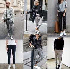 """Spontaan kocht ik een grijze """"pantalon"""", zoals ze dat ook wel fancy in de mode wereld noemen. In principe is het gewoon een grijze broek met rechte pijpen wat voelt als een joggingbroek. """"Dan draag ik 'm gewoon met eh.."""", tja, zo makkelijk als het in de winkel leek, zo moeilijk had ik het thuis. Hoe draag …"""
