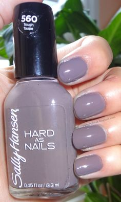 Sally Hansen Hard as Nails, Tough Taupe   Nails <3   Pinterest ...