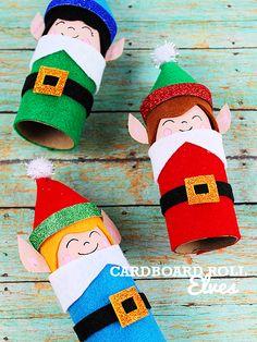 Cardboard Roll Elves Christmas Craft Elf on the Shelf Craft Buddy the Elf Craft