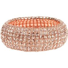Shimmering Rose Gold Tone 7 Row Stretch Cuff Bracelet with Peach Crystals Heirloom Finds, http://www.amazon.com/dp/B0066SJJ4S/ref=cm_sw_r_pi_dp_-uvdrb1PS7SAD