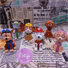 Kit 6 miniaturas Patrulha Canina - Paty's Biscuit
