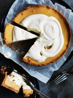 Whisky caramel pie.