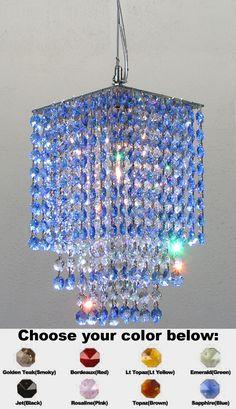 Blue Crystal Chandelier
