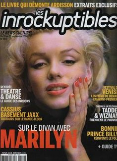 Les Inrockuptibles - September 2006, magazine from France. Front cover photo of Marilyn Monroe by Alfred Eisenstaedt, 1953.