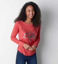 AEO Signature Graphic Raglan T-Shirt - Buy One Get One 50% Off