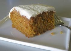 Finally a carrot cake recipe that doesn't use raisins or pineapple.  This is what hubby requested for his birthday cake.