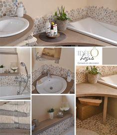 deco and layout for a bathroom Source by Ideal Home, Diy Bathroom, Bathroom Renos, Deco, Small Master Bathroom, Bathroom Design Trends, New Homes, Beach House Bathroom, Bathroom Decor