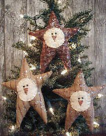 Primitive Stars with Snowmen faces.