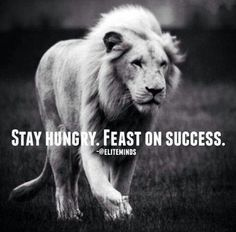Stay hungry.