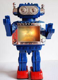 Vintage Robots, Retro Robot, Vintage Toys, Arte Robot, Robot Art, Real Robots, Science Fiction, Electric Sheep, Space Toys