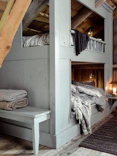 Bunkbeds done right, Attic Spaces, Attic Rooms, Bunk Rooms, Bunk Beds, Bedrooms, Home Furniture, Furniture Design, Bed Nook, Cozy Nook