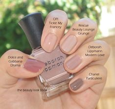 The Best Nudes nail polishes - I LOVE OPIs Tickle My Francey. Its a great nude. I just combined what was left of my bottle with a nude of another brand with a little frost in it, and the ending color was perfect!