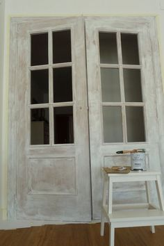 Home Furniture Bedroom Furniture Makeover, Interior Deco, Chalk Paint, Painted Doors, Interior Design Bedroom Small, Interior Design Bedroom, Door Design Interior, Diy Door, Doors Interior