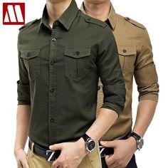 Compare Prices on Vintage Military Shirts- Online Shopping/Buy Low . Casual Shirts For Men, Men Casual, Men Dress Up, Men's Fashion, Fashion Shirts, Plain Shirts, Men's Shirts, Shirt Style, Long Sleeve Shirts