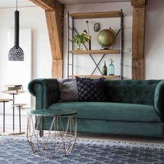 Dutchbone Chester Velvet bank   Bestel nu bij Fundesign.nl Breakfast Nook Bench, First Apartment Decorating, Bench Plans, Apartment Living, Living Room Designs, Chester, Velvet, Pillows, Interior Design