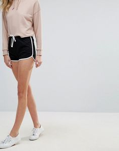 d309fd3f5 ASOS Tall | ASOS DESIGN Tall Basic Runner Shorts With Contrast Binding, $13  Basic Outfits