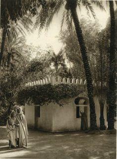 Lehnert & Landrock - Biskra Oasis - Gravure Book Plate, View in the Oasis - 1924