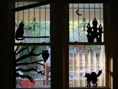 How to Make Halloween Window Silhouettes   how-tos   DIY