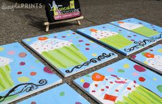 Art party final canvases