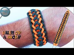 How To Make Paracord Bracelet Grin of a Wolf DIY Paracord Tutorial Paracord Bracelet Survival, Paracord Bracelet Designs, Paracord Bracelets, Survival Bracelets, Loom Bracelets, Macrame Bracelets, Diy Bracelets Video, Bracelets For Men, Paracord Tutorial