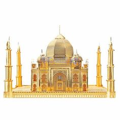 PieceCool 3D Metal Puzzle World Famous Building 3D Assembly Model Taj Mahal 3d Metal Earth Jiasaw Model for Children Gift & Toys