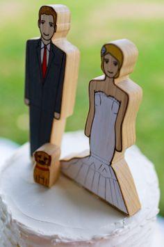 Custom cake toppers from Etsy / StyleBlueprint Memphis