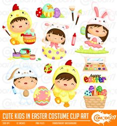 50% OFF !! Cute Kids in Easter Costume Clipart / Digital Clip Art for Commercial and Personal Use / INSTANT DOWNLOAD by comodo777 on Etsy https://www.etsy.com/uk/listing/269885298/50-off-cute-kids-in-easter-costume