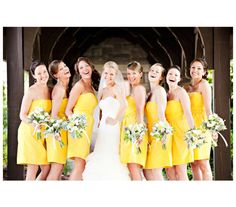 group photo of bride and bridesmaids