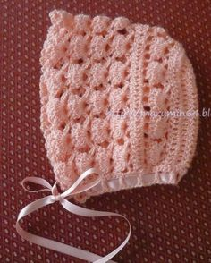 Marumin Crochet: Capotita para bebe salmón