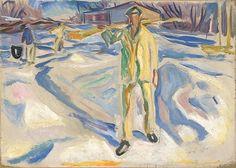 Edvard Munch – Trabalhadores de Construção na Neve, 1920                                                                                                                                                                                 Mais