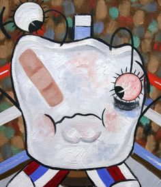 Knocked Out Tooth Poster Print Dental Art Collectable by falboart