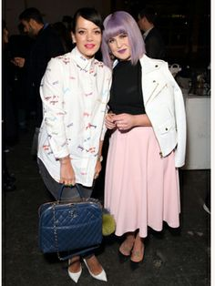 Lily Allen and Kelly Osbourne at Henry Holland for LFW. <3