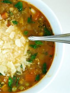 Minestrone Soup with Quinoa