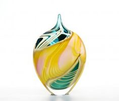 Peter Layton glassware Nautilus  The combination of colours is fabulous and the swirling organic forms