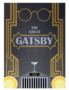 The Great Gatsby (2013) ~ Minimal Movie Poster by David Peacock
