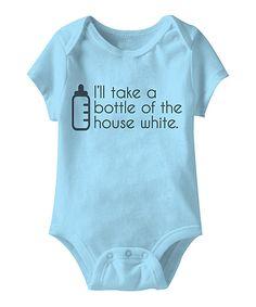 Urs Truly Aqua Bottle of the House White Bodysuit