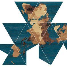 Buckminster Fuller's Dymaxion world map redesigned