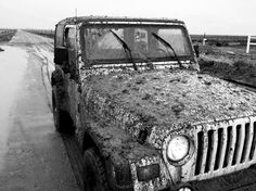 muddy trucks never gets old #jeepwrangler