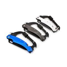 Multitool Knife - Updated Carabiner Keychain Camping Survival Gear Clip Includes Flashlight, Knife, Screwdriver, Glass Breaker and Bottle Opener for Backpack, Hammock Straps, Hiking and More