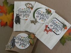 Stamp-ing Fall Cards, Holiday Cards, Fall Paper Crafts, Paper Crafting, Christmas Catalogs, Forest Friends, Pillow Box, Cards For Friends, Embossing Folder