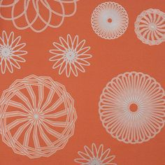 Graphic Circles Wallpaper in Orange and Silver design by BD Wall
