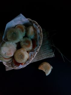"""Bakpia Pathuk"".. It is like flaky pastry with mung bean filling. This snack is known well from Yogyakarta, Indonesia."