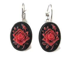 Boucles d'oreilles camee retro vintage rockabilly pin up gothique romantique…