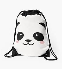 d4b44834ab Image result for free drawstring bag design panda