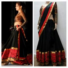 16 ideas for dress red and black crop tops Dresses For Teens, Trendy Dresses, Elegant Dresses, Nice Dresses, Fashion Dresses, Woman Dresses, Half Saree Designs, Sari Blouse Designs, Kurti Neck Designs