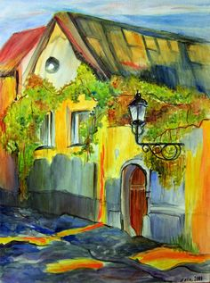 House with Green Leaves by zzen on deviantART